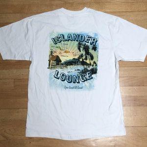 Newport Blue Islander Lounge Tiki Tee T Shirt L